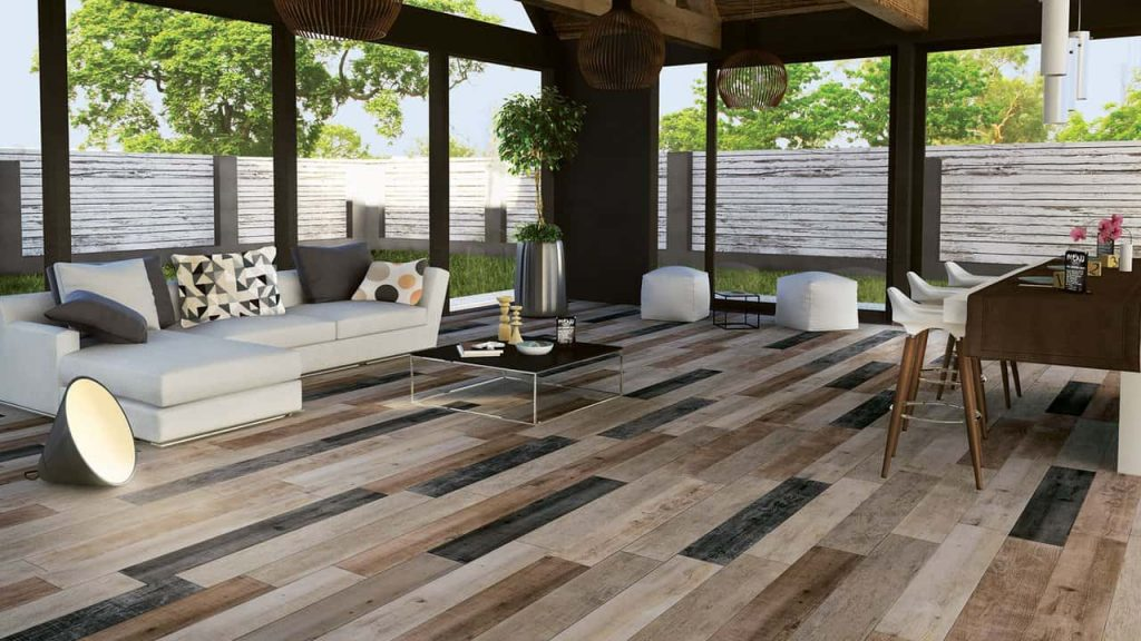 The Latest Flooring Idea Staggered Tile Transitions